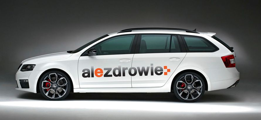 Project of the mobile advertising for Alezdrowie company